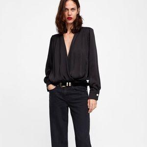 Zara Sateen bodysuit. Never worn!